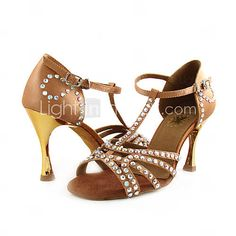 Satin Upper Dance Shoes Ballroom Latin Shoes for Women More Colors