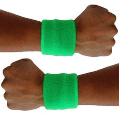 Extreme 80's Neon Green Sweat Band Unisex-Adult Extreme 80s. $8.95