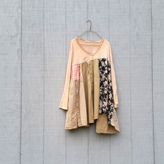 funky flowing tunic / upcycled Dress / romantic clothing by CreoleSha