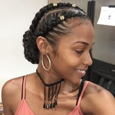 45 Gorgeous Natural Hairstyles for When You Want to Look Gla.- 45 Gorgeous Natural Hairstyles for When You Want to Look Glam 45 Gorgeous Natural Hairstyles for When You Want to Look Glam - Box Braids Hairstyles, African Hairstyles, Girl Hairstyles, Gorgeous Hairstyles, Hairstyles 2016, African American Natural Hairstyles, African American Braids, African American Makeup, Braid Hairstyles