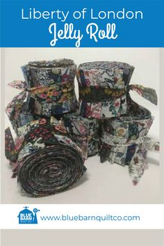 Liberty Jelly Roll Blue/Purple $75 CAD per roll. A special collection of 20 Liberty of London Lawn 2-1/2″ hand cut strips by WOF (54″). A great item to add to your Liberty collection. Limited availability. Ships to Canada and USA.   #Jellyrollquilt #libertylove #libertyfabric #libertyoflondonfabric  #quiltingismytherapy #modernquilts  #quilters #fabricstash #quiltfabric #fabriclove #sewingproject #quilted  #modernquilter #quiltlove #quilted #longarmquilting #forsale Liberty Of London Fabric, Liberty Fabric, Jellyroll Quilts, Longarm Quilting, Quilt Patterns, Purple, Blue, Lawn, Sewing Projects