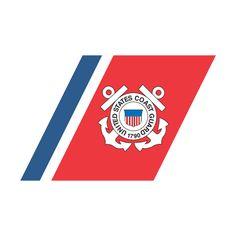 USCG Racing Stripe Coast Guard Decal $5.50