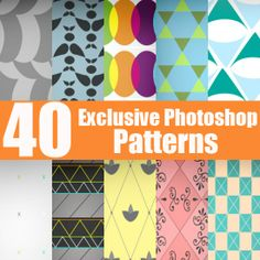 Free download: 40 Exclusive Photoshop Patterns