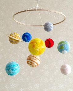 Solar system mobile - Galaxy mobile -Planets mobile - Space baby mobile - Set of Solar System Planet Solar System Mobile, Solar System Crafts, Solar System Planets, Space Themed Nursery, Nursery Themes, Nursery Ideas, Solaire Diy, Planet Mobile, First Mothers Day Gifts