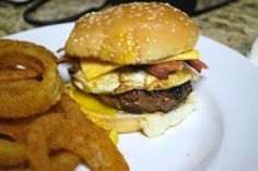 Bacon Egg and Cheese Burger - SavoryReviews by Rex BBQ
