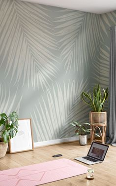 There's nothing quite as refreshing as our pale blue Palmer wallpaper. Any room that feels dull or blank will get an instant uplift and a stylish new look with this palm leaf mural design as your large-scale feature wall. The huge palm leaves are illustrated with a beautifully textured pencil effect, and they'll act as a focal point in your space. The Palmer design is dipped in a calming blend of blue tones – with a dusty blue background colour, and light, chalky blue palms. Palm Leaf Wallpaper, World Map Wallpaper, Tropical Wallpaper, Forest Wallpaper, Beach Wallpaper, Geometric Wallpaper, Kids Wallpaper, Photo Wallpaper, Flower Wallpaper
