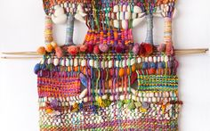 Telaresisa- Saori like artistic weavings.  by Ivette Sauterel Augsburger of Santiago, Chile