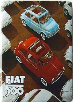 Vintage FIAT 500 ad - Pinned for my friend Chris!