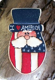 I LOVE America Pin by CountryCharmers on Etsy