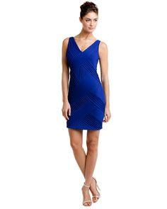 Catherine Malandrino Galaxy Crisscross Pleat Dress