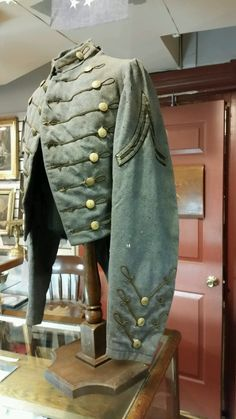 """Coatee"""" given to VMI cadets to wear as part of their military school uniform. This Coatee was made during the Civil War, approximately 1864 issue, and could have been worn by a cadet during the Battle of New Market. During the Battle of New Market in 1864 — VMI cadets played a major role, forcing Union General Franz Sigel out of the Shenandoah Valley."""