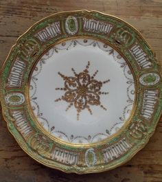 Antique Nippon Porcelain China Plate Very Ornately Decorated Japanese Porcelain, China Porcelain, China Plates, Noritake, Classic Collection, Vintage China, Accent Pieces, Kitchenware, Tableware