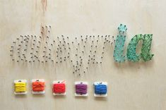 Small Letters - Nail & String Craft