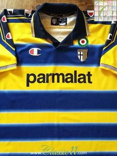 2c7d5cd45fa97 1999 00 Parma Home Football Shirt (XL)