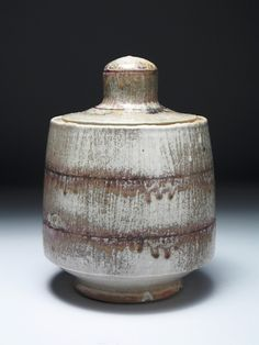"Matthew Hyleck | New Horizon Stoneware Jar (double seam, 11x7x7""), fired to ^10 reduction."
