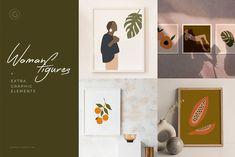 Spice up your projects with over 45 bright and beautiful graphic elements. Perfect for branding, logos, prints, social media posts, textiles - wherever your Watercolor Plants, Watercolour, Photoshop For Photographers, Women Figure, Scene Creator, Background Vintage, Wedding Stationary, Abstract Shapes, Watercolor Illustration