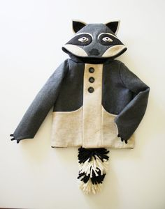 Rowdy Raccoon Jacket by littlegoodall on Etsy