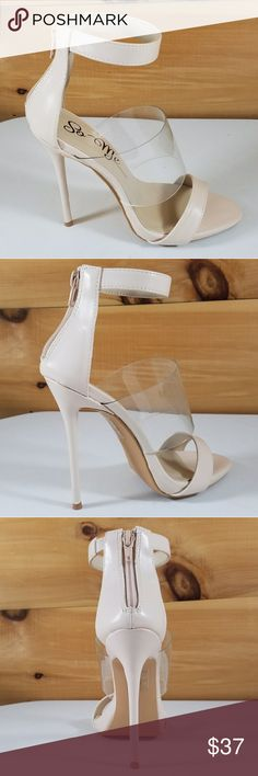 """So Me Victoria Illusion High Heel Shoes Nude 5"""" high heels nude color with translucent strap new in box multiple sizes to choose from  For more style come see us at twf.shoes and make your offers So Me Shoes Heels"""