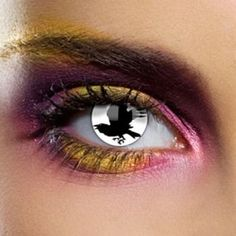 Raven Eye Contact Lenses + Makeup