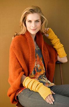 Lion Brand Yarn #FreePattern #Knit Harvest Shrug # 90688 trying to decide what to do with that beautiful yarn I salvaged from a failed tunic sweater... shrug, cape or sweater...