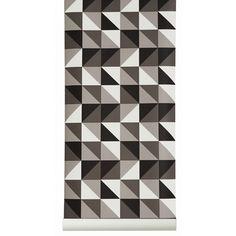 Papier peint en rouleau Remix (bleu ou gris) Ferm Living