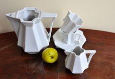 cz: our cubist porcelein set Sugar Bowl, Bowl Set