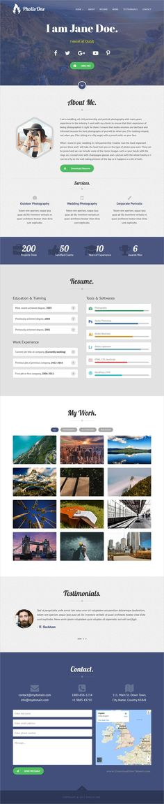 Anik is clean and simple design responsive #HTML #bootstrap - company portfolio template
