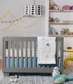 Home - Kids' Room and Nursery Blue Crib, Grey Crib, Bed Rails For Toddlers, Toddler Furniture, Crib Skirts, Convertible Crib, Crib Bedding Sets, Baby Cribs, Bedding Collections
