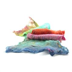 Cobweb Felt Scarf Wool Scarf Winter Scarf Winter by Fibernique, $55.00