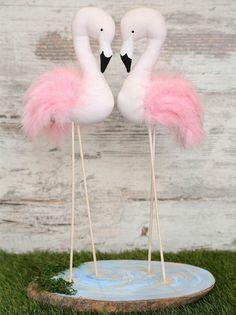 Set of 2 Pink Flamingos Handmade Flamingos Room Decor Home Decoration Nursery Decoration Baby Room Baby Gift Baby Girl Baby Shower Flamingo Baby Shower, Flamingo Birthday, Flamingo Party, Hawaiian Baby Showers, Luau Baby Showers, Flamingo Craft, Flamingo Ornament, Party Fotos, Nursery Decor