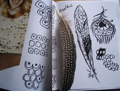 feathers and patterns