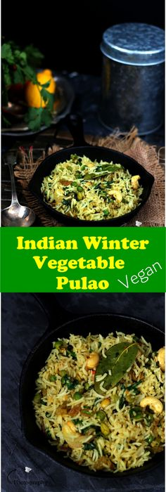 Vegan Indian Winter Vegetable Pulao