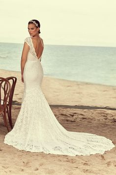 View Scalloped Neckline Wedding Dress - Style from Mikaella Bridal. Lace V-neck gown with cap sleeves. Scallop around neckline, sleeve, and waist. Bridal Gowns, Wedding Gowns, Mikaella Bridal, Wedding Dress Necklace, Mod Wedding, Lace Wedding, Dream Wedding, Wedding Times, Wedding Decor