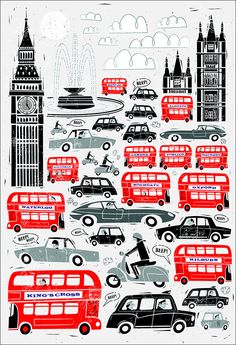 London traffic on Behance
