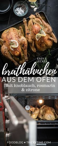 recipe and instructions for delicious and crispy roast chicken from the oven … - Healthy Recipes! Mushroom Sauce For Chicken, Roast Chicken, Oven Chicken, Cooking Together, International Recipes, Chicken Recipes, Food Porn, Food And Drink, Healthy Recipes