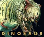 This dinosaur book (titled, what else...DINOSAUR)is done as a scrapbook by an imaginary paleontologist, chockfull of notes, and beautiful illustrations. There are fold out pages, letters and notes which detach from the book, and a nice poster in the back (one side: actual size of t.rex footprint; other side: various dinosaurs. $19.99