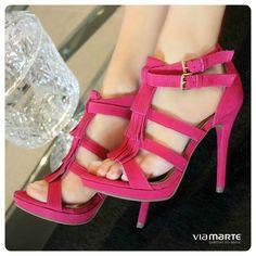 franjas - salto alto - party shoes  - pink - Ref. 14-15909 - verão 2015