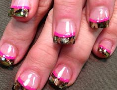 Lovely Camouflage Nail Design