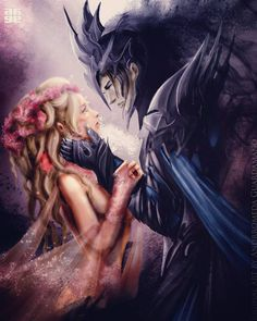 Hades and Persephone by dromsfallenruins.deviantart.com on @DeviantArt