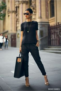 SO CHIC. BLACK ON BLACK ON BLACK.