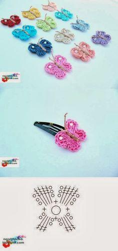 DIY Crochet Butterfly Clip
