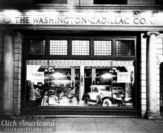 1920s car showrooms in Washington DC