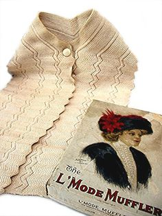 Edwardian L'Mode Muffler Neck Scarf and Original by bonitalouise, $75.00