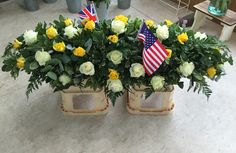 Yellow and White Rose, Casket Tribute
