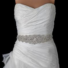 Stunning Crystal Rhinestone Beaded Wedding Dress Belt - Affordable Elegance Bridal -