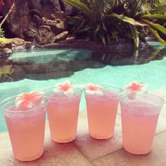 Summer.... pool.... palm trees! pretty refreshing drinks!