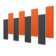 Acoustic Panels - 8 pc noise absorption sound panels, Style: STAGGERED IN DMD - Covers 32 Sq. Feet.