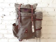 Bradley Mountain canvas and leather pack