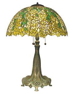 Dale Tiffany 0011/272 Tiffany Wisteria Yellow Table Lamp
