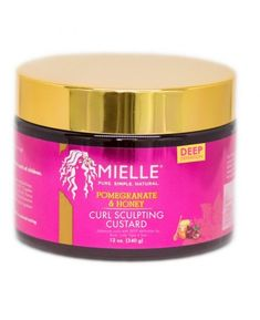 Mielle Pomegranate & Honey Curling Custard - Enhance the definition, shine, and hold of your naturally-curly hairstyles. Help tame frizz and get the wonderful humectant benefits of honey to moisturize and condition your hair. Curling, Coco Nucifera, Babassu Oil, Pomegranate Extract, Hair Milk, Hair Lotion, Type 4 Hair, Aqua, Benzoic Acid